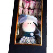خرید آنلاین جعبه گل رز صورتی خوابیده با جعبه مکعب مستطیلی در تهران از فروشگاه و گلفروشی انلاین شادیچی