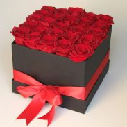 خرید اینترنتی و آنلاین باکس گل رز قرمز آتریسا در تهران از فروشگاه و گلفروشی انلاین شادیچی