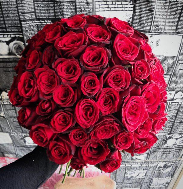 دسته گل رز ولنتاین و سالگرد ازدواج شیک و زیبا