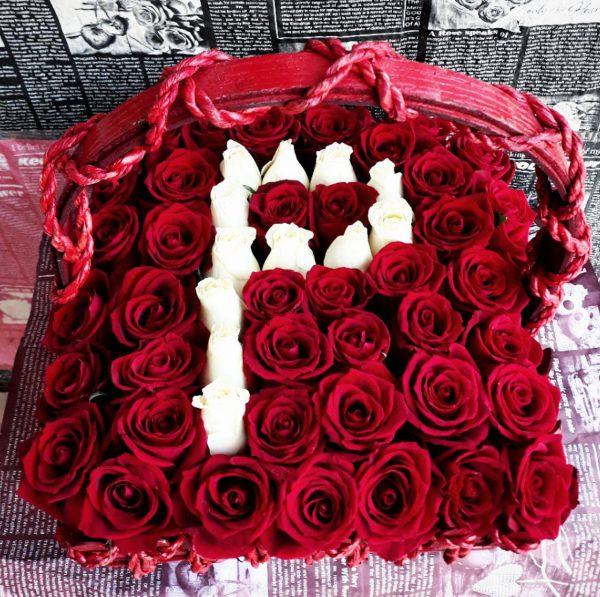 خرید آنلاین و اینترنتی سبد گل حرف p در تهران از گلفروشی و فروشگاه انلاین شادیچی