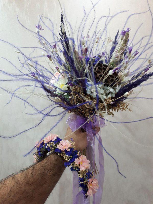 خرید آنلاین و اینترنتی دسته گل تزیینی ژورنال عروس برای جشن عروسی و خواستگاری و هدیه در تهران از گلفروشی و فروشگاه انلاین شادیچی