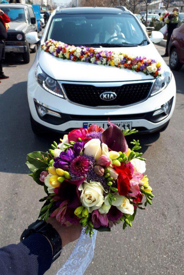 خرید آنلاین و اینترنتی دسته گل رز ژورنال برای عروس جشن عروسی خواستگاری و هدیه در تهران از گلفروشی و فروشگاه انلاین شادیچی