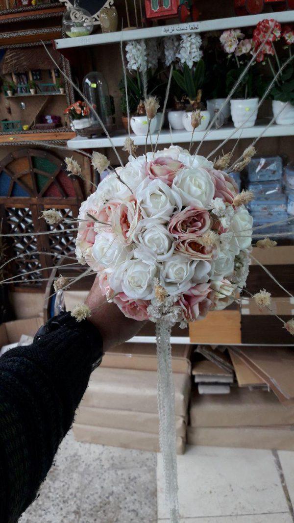 خرید آنلاین و اینترنتی دسته گل سفید ژورنال عروس برای هدیه جشن عروسی و خواستگاری در تهران از گلفروشی و فروشگاه انلاین شادیچی