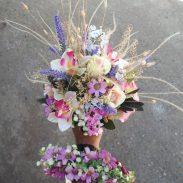 خرید آنلاین دسته گل آبی و سفید رنگ برای جشن عروسی عروس خواستگاری و هدیه در تهران از گلفروشی و فروشگاه انلاین شادیچی