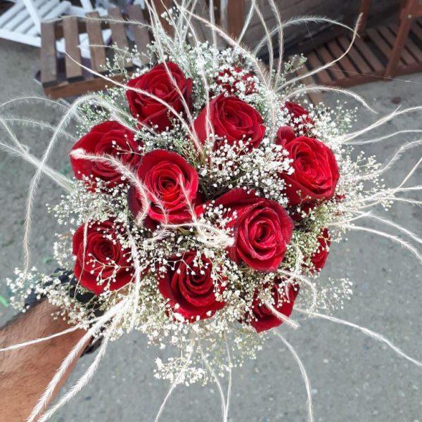 خرید آنلاین دسته گل رز قرمز عروس برای جشن عروسی خواستگاری و هدیه در تهران از گلفروشی و فروشگاه انلاین شادیچی