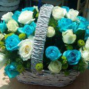 خرید آنلاین و اینترنتی سبد گل دسته دار در تهران از فروشگاه و گلفروشی انلاین شادیچی