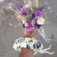 خرید آنلاین و اینترنتی دسته گل عروسی ژورنال برای عروس در تهران از گلفروشی و فروشگاه انلاین شادیچی