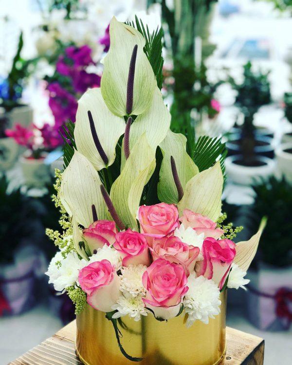 باکس گل طلایی پلکسی شماره 217