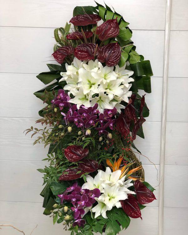 سبد گل بزرگ دو طبقه