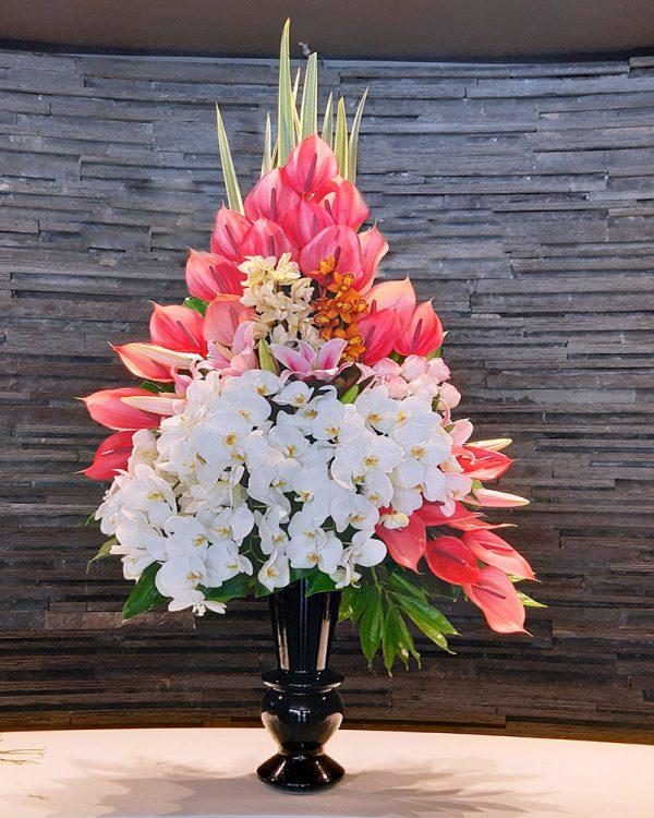 گلدان گل رز برای تبریک