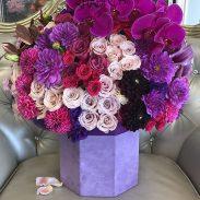 باکس گل رز بنفش